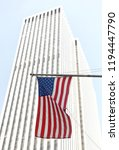 american flag on a building in... | Shutterstock . vector #1194447790