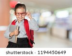 young beautiful girl in glasses ... | Shutterstock . vector #1194450649
