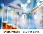 science laboratory test tubes   ... | Shutterstock . vector #1194451846