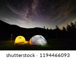 milky way sky stars over... | Shutterstock . vector #1194466093