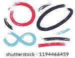 vector set of hand drawn brush... | Shutterstock .eps vector #1194466459