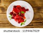 piece of tasty new york... | Shutterstock . vector #1194467029