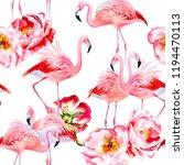 floral seamless pattern with... | Shutterstock . vector #1194470113