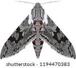 night moth convolvulus hawk | Shutterstock .eps vector #1194470383