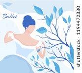 ballerina in a blue dress... | Shutterstock .eps vector #1194472330