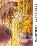 nefertiti   an egyptian queen.... | Shutterstock . vector #1194473833