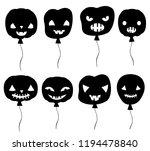 black halloween vector set with ...   Shutterstock .eps vector #1194478840