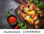 grilled shish kebab or shashlik ...   Shutterstock . vector #1194490933