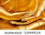 Gold Hand Of Image Buddha