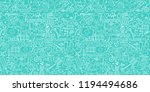 medicine seamless doodle... | Shutterstock .eps vector #1194494686