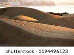 view on the maspalomas dunes is ... | Shutterstock . vector #1194496123