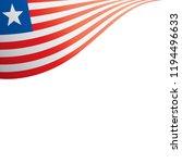 liberia flag  vector... | Shutterstock .eps vector #1194496633