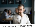 upset millennial outsider feel... | Shutterstock . vector #1194497179