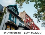 view of the old house entwined... | Shutterstock . vector #1194502270