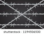 realistic metal barbed wire... | Shutterstock .eps vector #1194506530