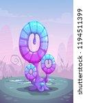 fantasy glossy blue mushroom ...   Shutterstock .eps vector #1194511399
