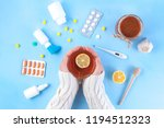 medications  pills  thermometer ... | Shutterstock . vector #1194512323