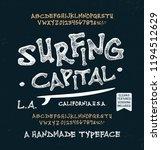 retro styled surf  font.... | Shutterstock .eps vector #1194512629
