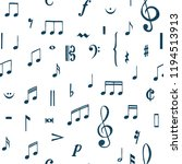 music notes pattern. music... | Shutterstock .eps vector #1194513913