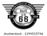 route 66   main street of... | Shutterstock . vector #1194515746