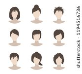 collection of icons of woman in ... | Shutterstock .eps vector #1194516736