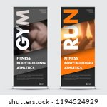 template vector roll up banner... | Shutterstock .eps vector #1194524929