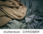 background with warm sweaters... | Shutterstock . vector #1194528859