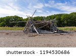 driftwood sticks arranged in a... | Shutterstock . vector #1194530686