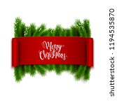 merry christmas text on... | Shutterstock .eps vector #1194535870