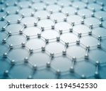 graphene molecular grid ... | Shutterstock . vector #1194542530