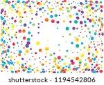 festive color round confetti...   Shutterstock .eps vector #1194542806