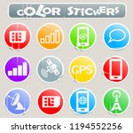 mobile connecttion color... | Shutterstock .eps vector #1194552256