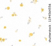 cute floral pattern of small... | Shutterstock .eps vector #1194564556