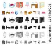 furniture and interior cartoon... | Shutterstock .eps vector #1194569206