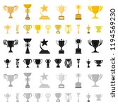gold cup cartoon icons in set...   Shutterstock .eps vector #1194569230