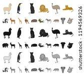 different animals cartoon icons ... | Shutterstock .eps vector #1194569326