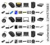 personal computer cartoon icons ... | Shutterstock .eps vector #1194570883