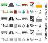 logistics service cartoon icons ... | Shutterstock .eps vector #1194571183