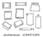 plastic packaging vector set.... | Shutterstock .eps vector #1194571393