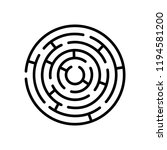 round maze. vector isolated... | Shutterstock .eps vector #1194581200
