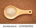 gluten free ivory teff grain on ... | Shutterstock . vector #1194584983