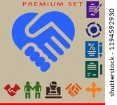 deal icon set. deal  contract ... | Shutterstock .eps vector #1194592930