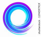 blue paint brushstroke circle... | Shutterstock . vector #1194597919