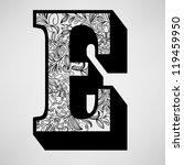 e letter   ornamental initial | Shutterstock .eps vector #119459950