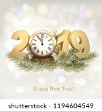 new year holiday background... | Shutterstock .eps vector #1194604549