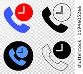 phone call time eps vector...   Shutterstock .eps vector #1194605266