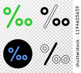 per mille eps vector icon with... | Shutterstock .eps vector #1194605659