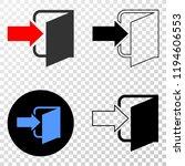exit door eps vector pictograph ...   Shutterstock .eps vector #1194606553