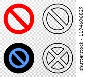 forbidden eps vector pictograph ...   Shutterstock .eps vector #1194606829