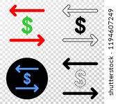 dollar exchange arrows eps...   Shutterstock .eps vector #1194607249